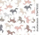 realistic unicorn silhouette... | Shutterstock .eps vector #576478102