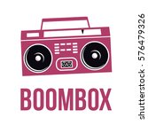 icon boombox. vector isolated... | Shutterstock .eps vector #576479326