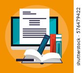e learning education design | Shutterstock .eps vector #576479422