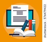 e learning education design | Shutterstock .eps vector #576479422
