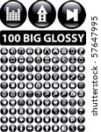 100 big glossy buttons. vector | Shutterstock .eps vector #57647995