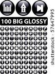 100 big glossy buttons. vector | Shutterstock .eps vector #57647995