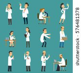scientists characters set with... | Shutterstock .eps vector #576481378