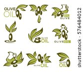 green olive and oil   vector... | Shutterstock .eps vector #576484012