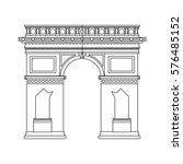 arc of triomphe icon | Shutterstock .eps vector #576485152