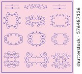 retro decorative border frames. ...   Shutterstock .eps vector #576487126