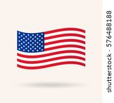 flag of the united states.... | Shutterstock .eps vector #576488188