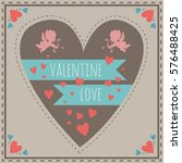 color greeting card with hearts ... | Shutterstock .eps vector #576488425
