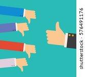 one hand of businessman leader... | Shutterstock .eps vector #576491176