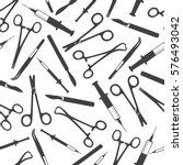 big collection of medical tools ... | Shutterstock .eps vector #576493042