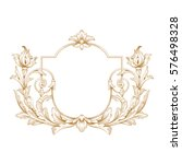 gold vintage baroque ornament... | Shutterstock .eps vector #576498328