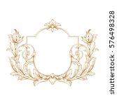 gold vintage baroque ornament... | Shutterstock .eps vector #576498328