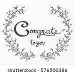 congratulations lettering...   Shutterstock .eps vector #576500386
