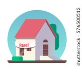house for rent icon. vector... | Shutterstock .eps vector #576500512