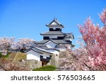 shirakawa komine castle and... | Shutterstock . vector #576503665