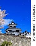 shirakawa komine castle and... | Shutterstock . vector #576503692