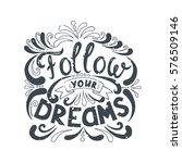 isolated calligraphic hand... | Shutterstock .eps vector #576509146