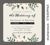 modern vintage save the date ... | Shutterstock .eps vector #576509965