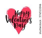 happy valentine's day vector... | Shutterstock .eps vector #576513346