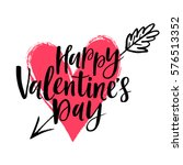 happy valentine's day vector... | Shutterstock .eps vector #576513352