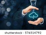 cloud computing security... | Shutterstock . vector #576514792