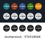 warranty labels. 1  2  3  5 and ... | Shutterstock .eps vector #576518068