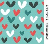 seamless heart background in... | Shutterstock .eps vector #576535375