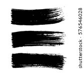 set of hand drawn black paint ... | Shutterstock .eps vector #576546028
