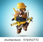 construction tools with a shoes ... | Shutterstock . vector #576552772