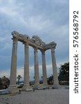 ruins of the temple of apollo... | Shutterstock . vector #576568792