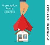 presentation house. house... | Shutterstock .eps vector #576572665
