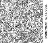 cartoon cute doodles hand drawn ... | Shutterstock .eps vector #576572956