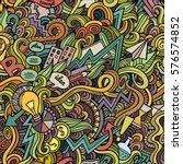 cartoon cute doodles hand drawn ... | Shutterstock .eps vector #576574852