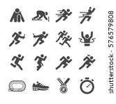 running man icon set. included... | Shutterstock .eps vector #576579808