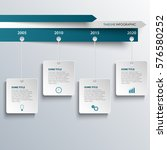 time line info graphic with... | Shutterstock .eps vector #576580252