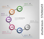 time line info graphic with... | Shutterstock .eps vector #576582655