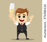 vector businessman show ok....   Shutterstock .eps vector #576586126