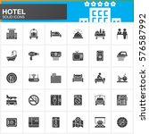 hotel services and facilities... | Shutterstock .eps vector #576587992