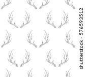 seamless silver glitter antler... | Shutterstock .eps vector #576593512