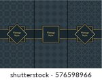 vintage pattern on black... | Shutterstock .eps vector #576598966
