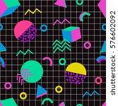 vector seamless creative... | Shutterstock .eps vector #576602092