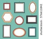 vector set of flat style empty... | Shutterstock .eps vector #576611842