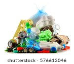recyclable garbage consisting... | Shutterstock . vector #576612046