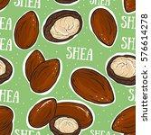 shea nuts seamless pattern.  | Shutterstock .eps vector #576614278