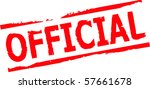 official rubber stamp vector... | Shutterstock .eps vector #57661678