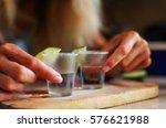 tequila shots | Shutterstock . vector #576621988