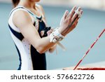 competition gymnastics... | Shutterstock . vector #576622726