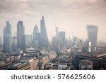 rooftop view over london on a... | Shutterstock . vector #576625606