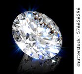sparkling ideal classic round... | Shutterstock . vector #576626296