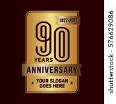 90 years anniversary logo....   Shutterstock .eps vector #576629086